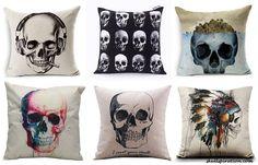 Skullspiration Web Site. Featured: Skull Pillows