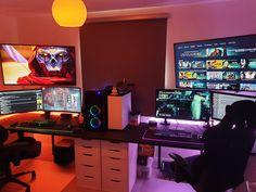Thirty one fortnite gaming setup, corner gaming setup,. Cheap Gaming Setup, Ultimate Gaming Setup, Laptop Gaming Setup, Computer Gaming Room, Best Gaming Setup, Computer Setup, Gamer Setup, Nintendo Switch, Living Room Gaming Setup