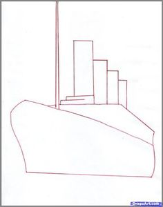 How to draw the Titanic (difficult)