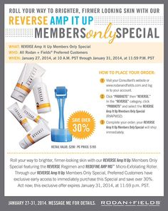 Roll your way to brighter, firmer looking skin with Reverse! Http://lromano.myrandf.com