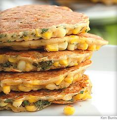 Corn and Basil Cakes from @WebMD