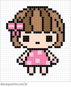 Could be used for rainbow loom Beaded Cross Stitch, Cross Stitch Charts, Cross Stitch Designs, Cross Stitch Embroidery, Cross Stitch Patterns, Cross Stitch Baby, Faire Du Pixel Art, Kawaii Cross Stitch, Broderie Simple