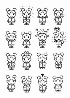 Kleurplaat 16 émotions