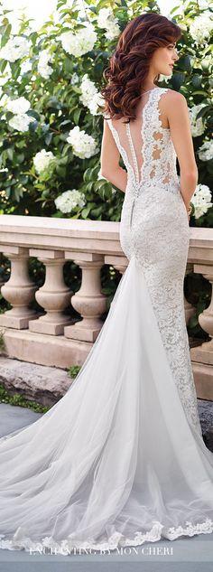 Lace back Wedding Dress - Enchanting by Mon Cheri 2017