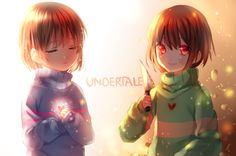 Choose one side,Chara or Frisk. Genocide or Pacifist? You decide the path you take on this game.....