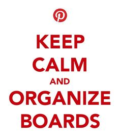 One will be amazed at how boards will flow once organized:)