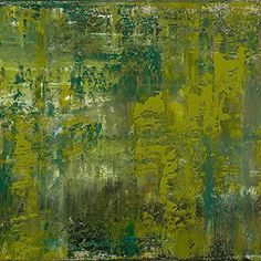 Greenery #pantone #coloroftheyear2017 #art #contemporaryart | Art by: @ www.patriciagrayart.com  | __________ REFLECTIONS II Patricia Gray  Acrylic with resin on Belgium linen  30 x 48 in. @ www.patriciagrayart.com __________
