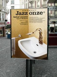 Poster series from 2002 to 2010, for the Jazz Onze+ Festival Lausanne.