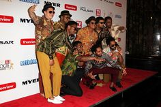 bruno n the hooligans on red carpet logies award