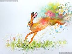 Image result for watercolour hare
