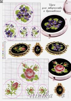36 ideas embroidery patterns small flowers for 2019 Small Cross Stitch, Cross Stitch Rose, Cross Stitch Flowers, Cross Stitch Designs, Cross Stitch Patterns, Ribbon Embroidery, Cross Stitch Embroidery, Embroidery Patterns, Grand Art