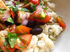 Homemade Chipotle Burrito Bowl..... rice, lime, cilantro, black beans, chicken, spices, tomato, jalapeno, red onion,