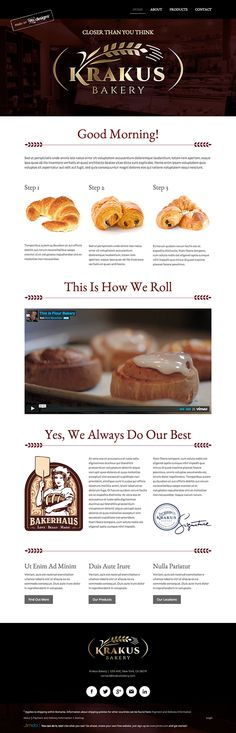 Bakery logo and website design concept by designer Levi. – Jimdo template: Miami – Visit their full site here: http://levi99.jimdo.com/