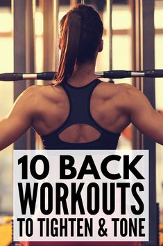 Whether youre trying to target your upper or lower back like to workout with weights or prefer using no equipment like exercises you can do at the gym or feel more comfortable at home this collection of back workouts for women is for you! The routines Back Fat Workout, Workout Plan For Women, Fat Burning Workout, Tummy Workout, Interval Training, Lose Belly Fat, How To Lose Weight Fast, Losing Weight Tips, Workout Routines