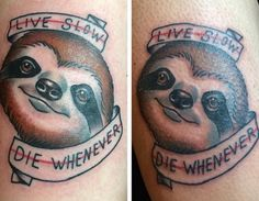 These sloth tattoos are hilariously wonderful