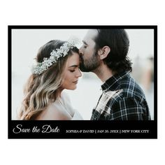 Black & White Save The Date Photo Postcard Rustic Save The Dates, Wedding Save The Dates, Wedding Thank You, Wedding Gifts, Save The Date Postcards, Photo Postcards, Holiday Photo Cards, Holiday Photos, Save The Date Fotos