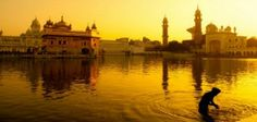 Picture of Sunset at Golden Temple in Amritsar, Punjab, India. stock photo, images and stock photography. South India Tour Packages, Cheap Flights To India, King Travel, Golden Temple Amritsar, India Holidays, North India, Group Tours, India Travel, Incredible India