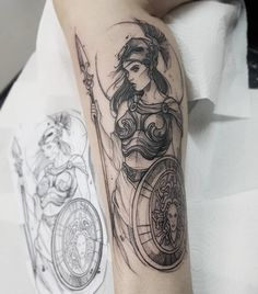 Sketch: Meet the artists who stand out in the sketchy tattoo style - . , Sketch: Meet the artists who stand out in the sketchy tattoo style - # Know Artemis Tattoo, Athena Tattoo, Medusa Tattoo, Aphrodite Tattoo, Apollo Tattoo, Sexy Tattoos, Body Art Tattoos, Tattoos For Guys, Sleeve Tattoos