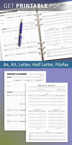 This collection of Paycheck Budget Templates designed to help you schedule your tasks, plan events, jot important things down and get things done. Here's a fun way to stay organized and get things done! Create an Easy Breezy life! Budget Sheet Template, Family Budget Template, Weekly Budget Template, Household Budget Template, Simple Budget Template, Planner Template, Budget Templates, Budget Sheets, Create A Budget