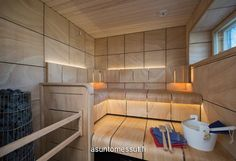 31 HB Kivitalo - Sauna | Asuntomessut Dry Sauna, Spa Rooms, Beauty Spa, 31, Home And Living, Exterior, House, Furniture, Home Decor