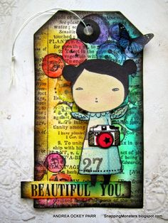 My Cards and Tags: Beautiful You by Andrea Ockey Parr