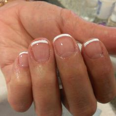 Classy Nails, Fancy Nails, Love Nails, Simple Nails, Pretty Nails, French Acrylic Nails, French Tip Nails, Cute Acrylic Nails, Nail Manicure
