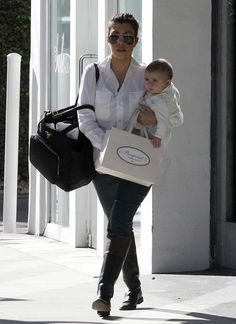 Mom and daughter day out with Kourtney Kardashian and Penelope - Celebrity Babyscoop
