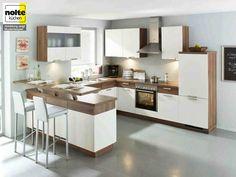 weiße küche mit theke | kitchen inspirations | pinterest ... - Kche Mit Theke
