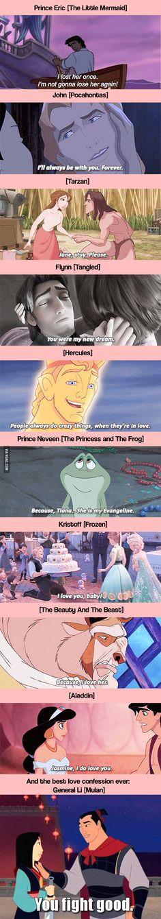 "Flynn and prince Neveen are the best for me <3 How Disney Gentlemen Say ""I Love You"""