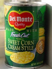 Turn a can of creamed corn into corn fritters!