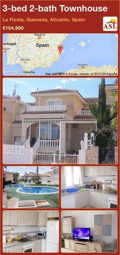 3-bed 2-bath Townhouse in La Fiesta, Quesada, Alicante, Spain ►€154,950 #PropertyForSaleInSpain