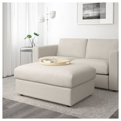 IKEA - VIMLE, Footstool with storage, Gunnared beige, Rest your feet on the ottoman or attach it to the end of your sofa for an additional seat. The ottoman has an extra storage space under the seat for all those little things you have in your home. Extra Storage Space, Storage Spaces, Ikea Vimle, Bed Ikea, Ikea Bank, Ikea Family, Family Bed, Family Office, Family Room
