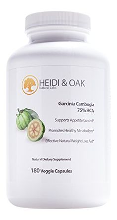 Heidi  Oak 100 Pure Garcinia Cambogia Extract with 75 HCA  180 Vegetarian Capsules  6090 Day Supply  Extra Strength  High Potency  Safe and Effective Weight Loss Supplement All Natural Appetite Suppressant and Carb Blocker  up to 3000 Mg Per Day for Maximum Results  Made in the USA *** Click image for more details. Note: It's an affiliate link to Amazon.