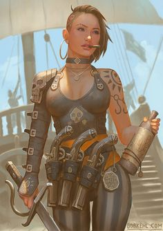 Rixa Rae Silver - Bob Kehl by BobKehl on DeviantArt Bali, Pro Bono Work, Pirate Woman, Pirate Art, All Hero, Deviantart, Character Drawing, Character Design, Character Ideas
