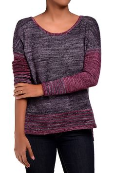 A quick knit, Breathe Easy is a boxy drop shoulder pullover worked from the bottom up. Sweater Knitting Patterns, Knit Patterns, Weaving Patterns, Quick Knits, Yarn Brands, Madame, Breathe Easy, Knitting Projects, Knit Crochet