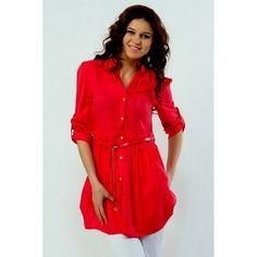 Office Wear Readymade Red Western Wear Dress - 1021004