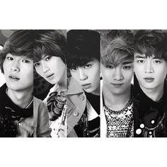 SHINee (: Onew, Taemin, Jonghyun, Key, Minho.