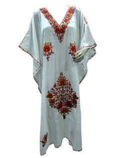 52befbeccf38 Party Wear Maxi Dresses, Caftan Dress, Kimono, Embroidered Silk, Kaftans,  Lounge Wear, Gypsy, Tunic Tops, Caftans