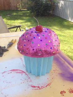 Dance Props Cakes Big Fake Glittery Cupcake View This And More On My Facebook Page