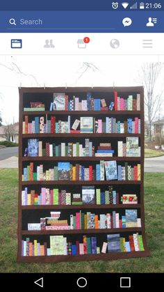 Bookshelf patchwork quilt-----so love this but would be nowhere to display it as all my walls are covered in real over-filled bookshelves.  lol