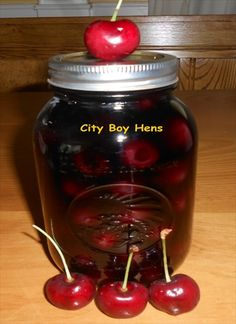 Drunken Cherries (in vodka) Ontario Bing cherries are now in at farmer's markets. They are great to eat fresh and even better to jar for the winter in some vodka. I've been making these flavored cherries for a few years and… Vodka Drinks, Fun Drinks, Yummy Drinks, Alcoholic Beverages, Alcoholic Shots, Liquor Drinks, Frozen Drinks, Cocktail Drinks, Mixed Drinks