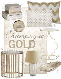 18 gold home decor pieces that won\'t breat the budget. Divided up ...