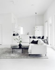 Square Feet on a Budget: An Artist's Loft in North London, Ikea Included (Remodelista: Sourcebook for the Considered Home) Monochrome Interior, Minimalist Interior, Minimalist Home, Interior Design Magazine, Ikea Storage Furniture, Lohals, Pine Cabinets, Artist Loft, Ikea Sofa