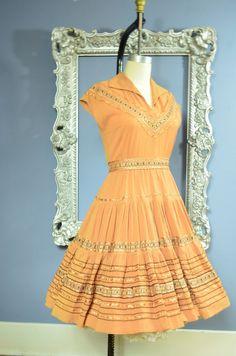 1950s patio dress 50s squaw dress size medium by melsvanity, $68.00