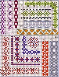 some fantastic cross stitch borders here