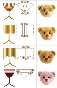 Te gebruiken bij het maken van gezichtjes bij beren.