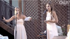 "After all the ""sappy"" talk at the wedding, the sisters say it's now their time in the spotlight. They kick off their toast with Tracy Chapman's ""Give Me One Reason."""