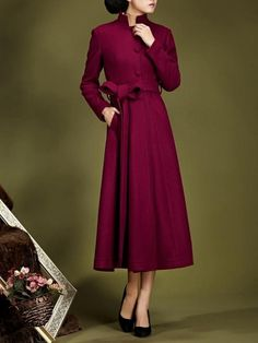 94048a7671499 Manteau élégant en laine femme Manteau Laine Femme, Veste Longue Femme,  Manteau Femme Pas
