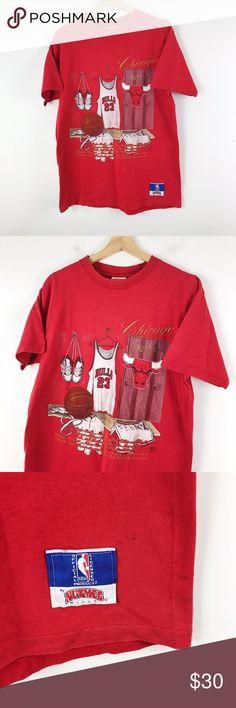 bcb06360decde 90s Vintage Chicago Bulls NBA Graphic T Shirt XL 90s Vintage Chicago Bulls  made in USA