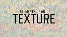 Discover the many ways visual artists engage our sense of touch through texture.